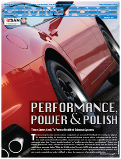 Driving Force, March 2012, SEMA Action Network