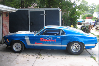 This 1970 Mustang BOSS 302 has had quite a storied past since being purchased by Marcus Simmons in November, 1969.