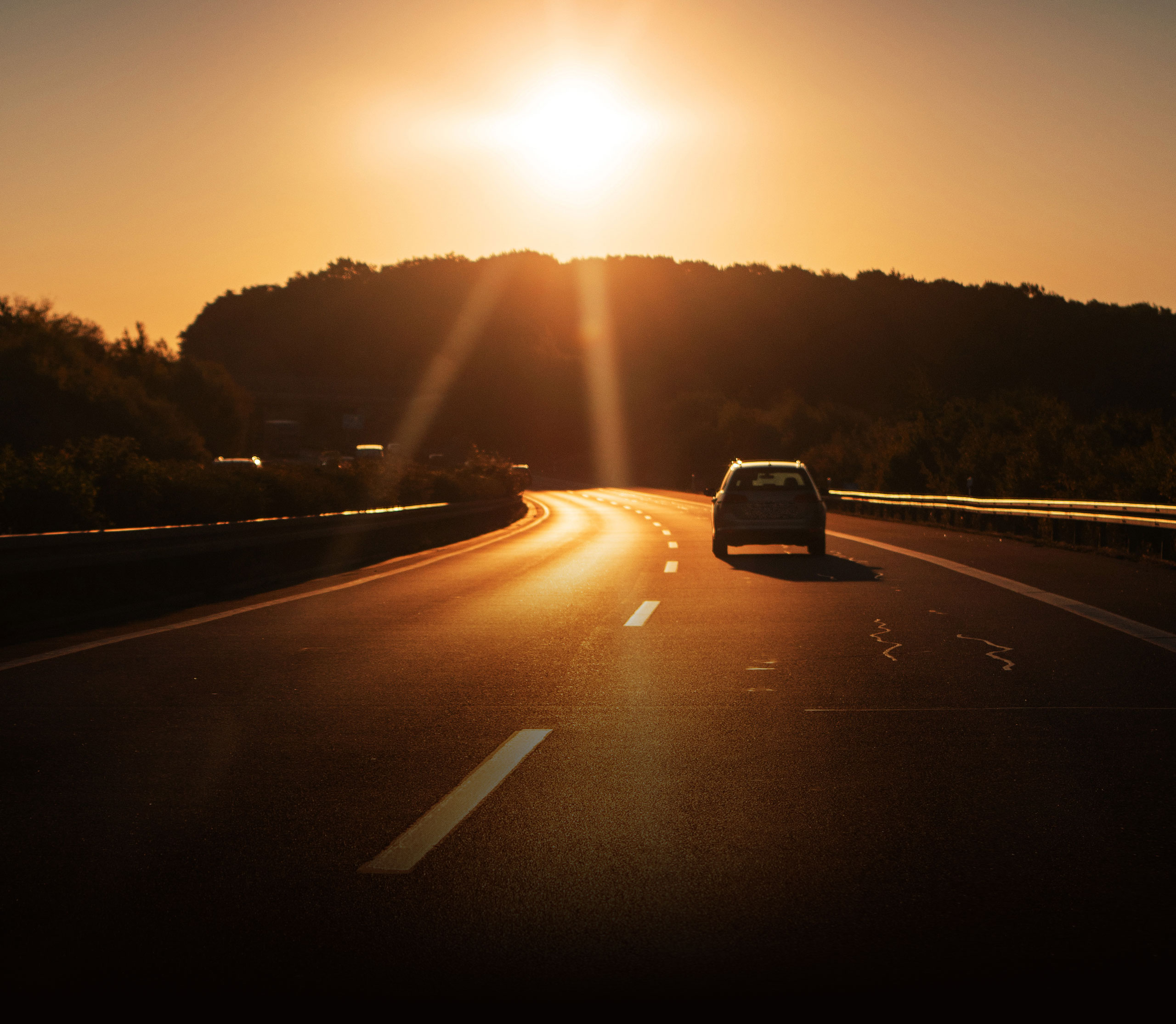 2020 Driving Force Summer Edition - image of road with sunset.