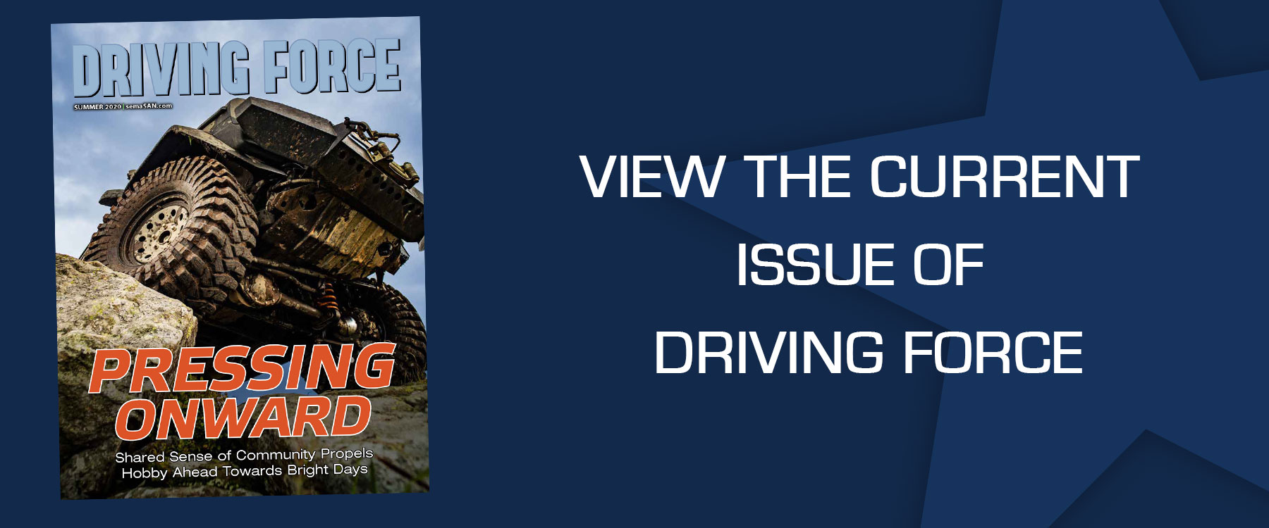 Driving Force Current Issue - Pressing Onward